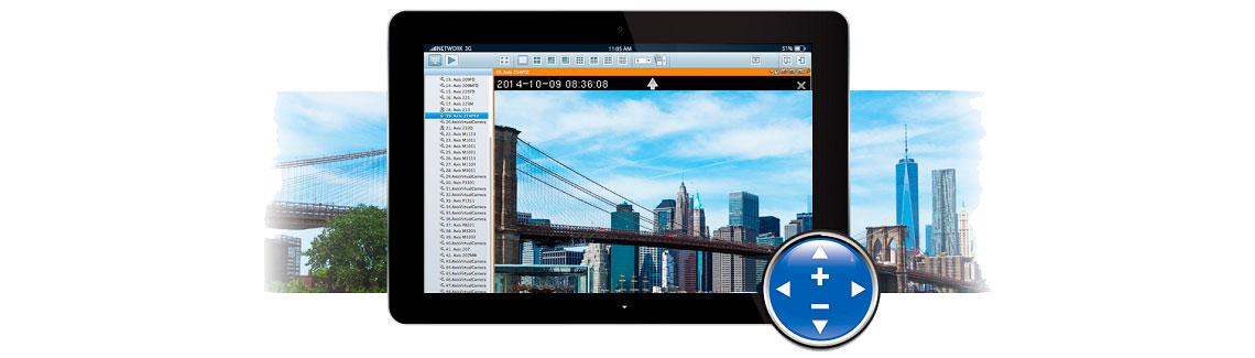Navegue em áreas abertas e amplie os detalhes com Zoom - VioStor VS-4016 Pro