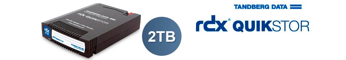 O cartucho RDX 2TB QuikStor - Disco removível para armazenamento e backup de dados.