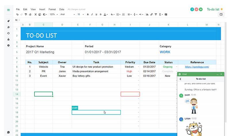 Pacote de colaboração Office Synology