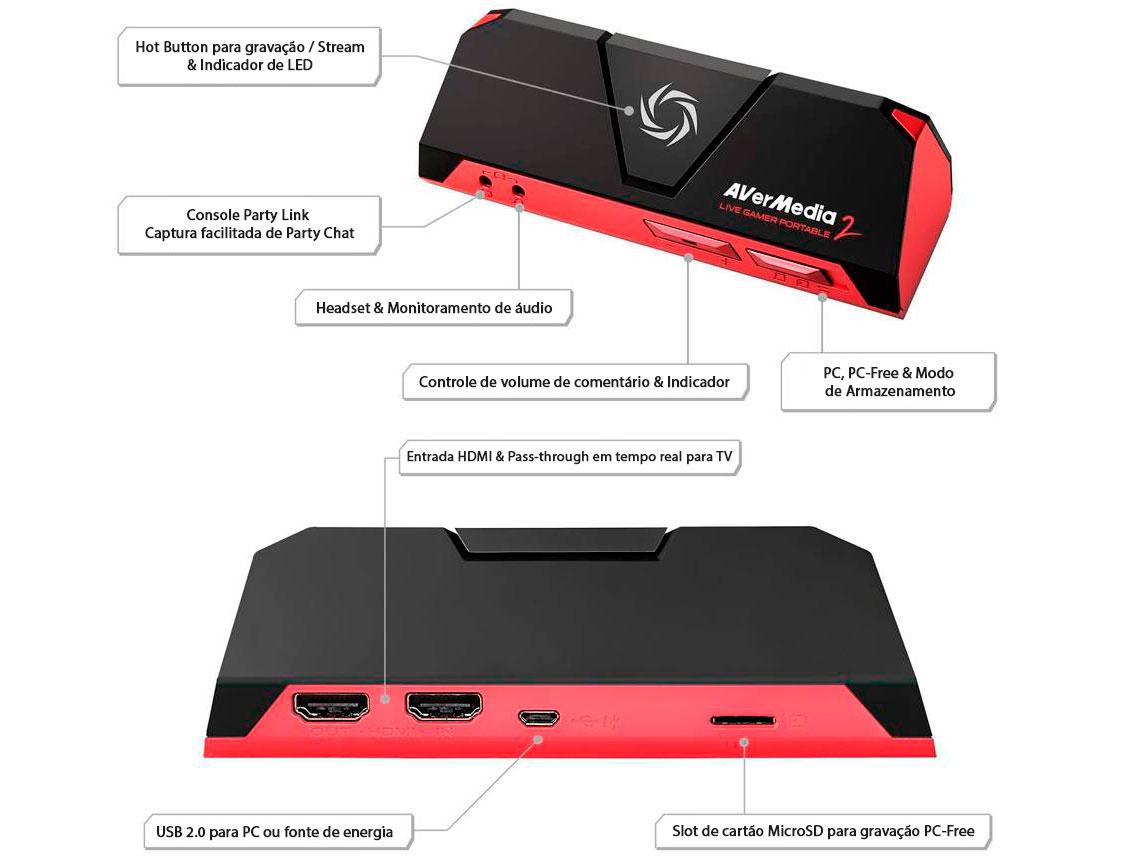 Placa de captura HDMI Live Gamer Portable 2