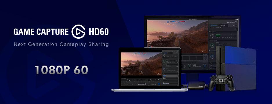 Placa de Captura HDMI para Xbox 360, Xbox One, PS3 e PS4 Game Capture Elgato
