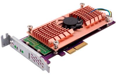 Placa de expansão para cache SSD e portas LAN 10GbE - QM2