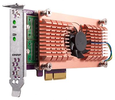 Placa PCIe de expansão QM2 para cache SSD e portas LAN 10GbE