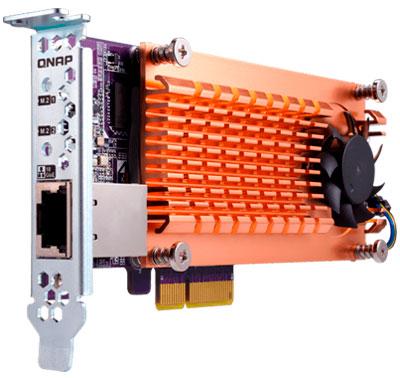 Placa QM2, conexão 10GbEe dois slots para cache SSD