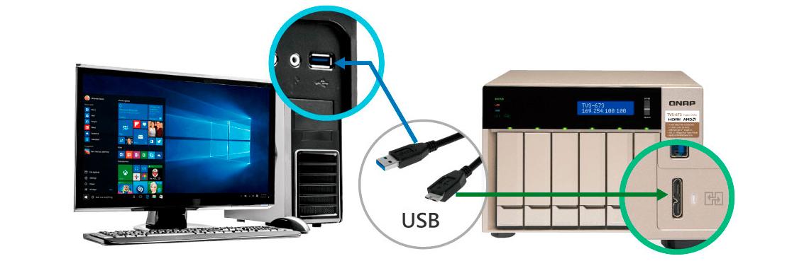 Porta USB QuickAccess para acesso direto aos arquivos (DAS)