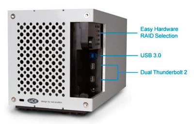 Um storage com portas Thunderbolt 2 e USB3.0
