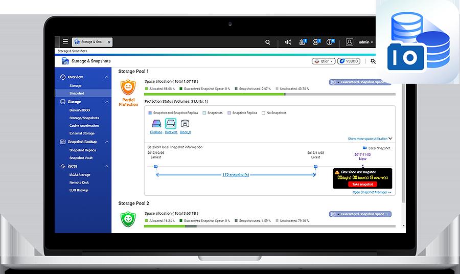 Proteção de dados contra ransomware com snapshots