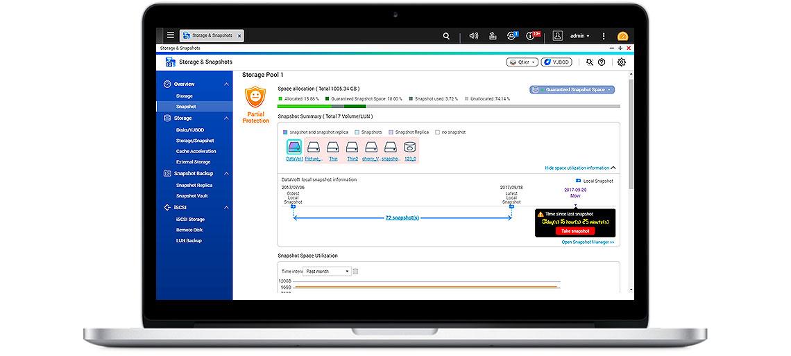 TS-453Be Qnap, NAS seguro com proteção e recuperação de dados com o recurso Snapshot