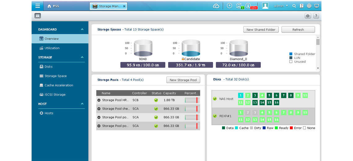 QES Storage Manager