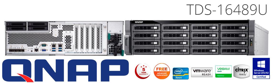 Qnap TDS-16489U, servidor NAS com dois processadores