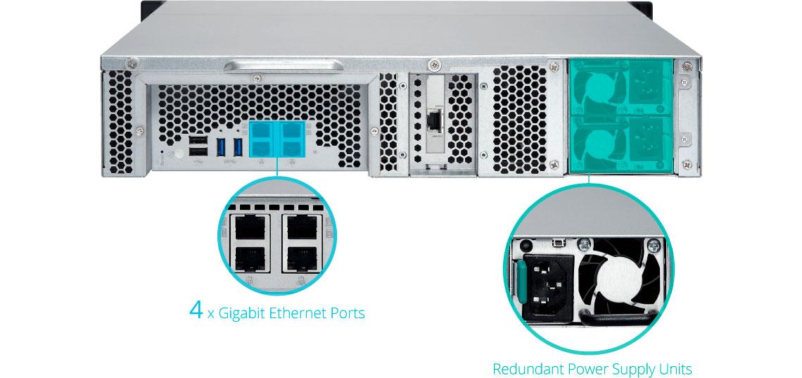 Qnap TS-1263XU-RP, storage com fonte redundante e 4 portas Gigabit