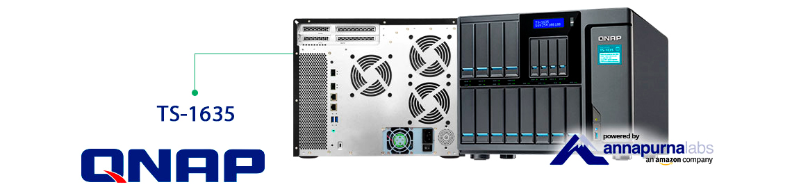 Qnap TS-1635, Storage NAS até 120TB para uso corporativo