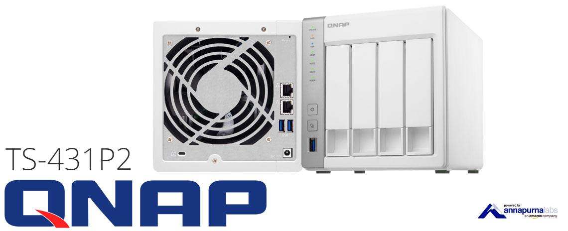 Qnap TS-431P2, storage 4 baias Quad Core de alto desempenho