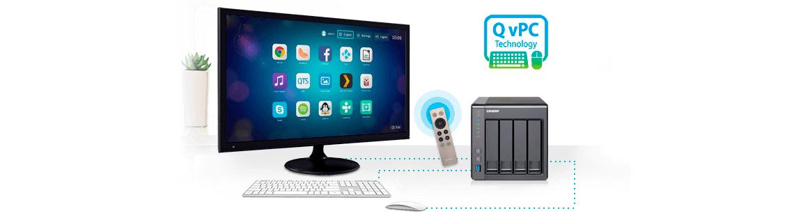 Servidor de mídia com tecnologia QvPC