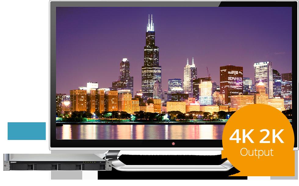 Qnap TS-453BU-RP com saída HDMI 4K para uma experiência audiovisual melhorada