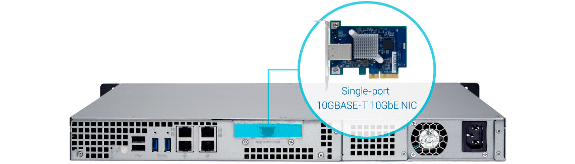 Qnap TS-463XU, NAS rackmount com conexão 10GbE