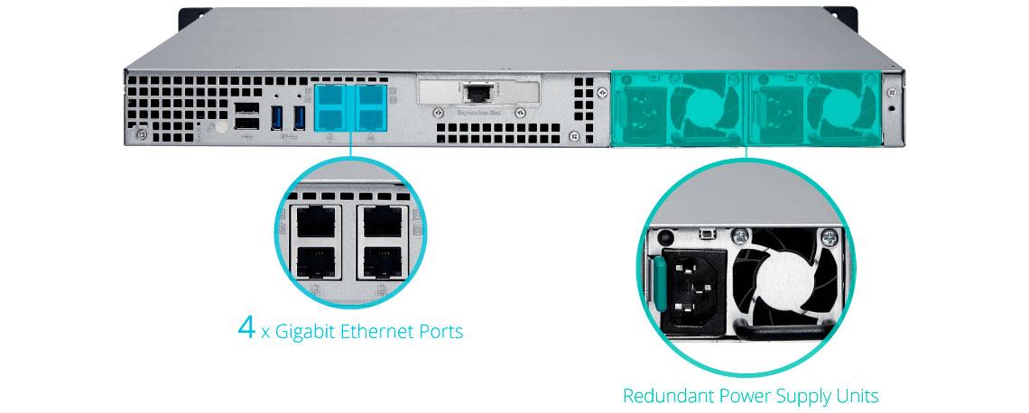 Qnap TS-463XU-RP, servidor NAS com conexões redundantes