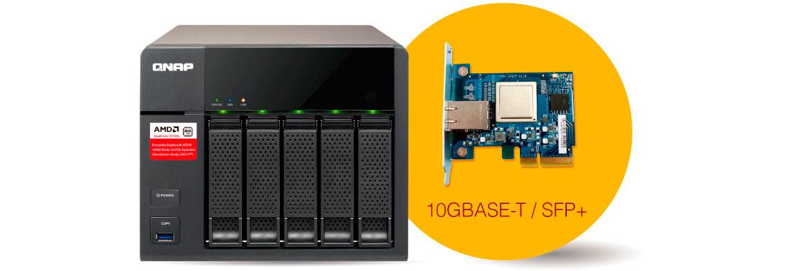 Qnap TS-563, conectividade 10GbE opcional