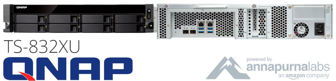Qnap TS-832XU, NAS 8 baias hot-swappable com 2 portas 10GbE