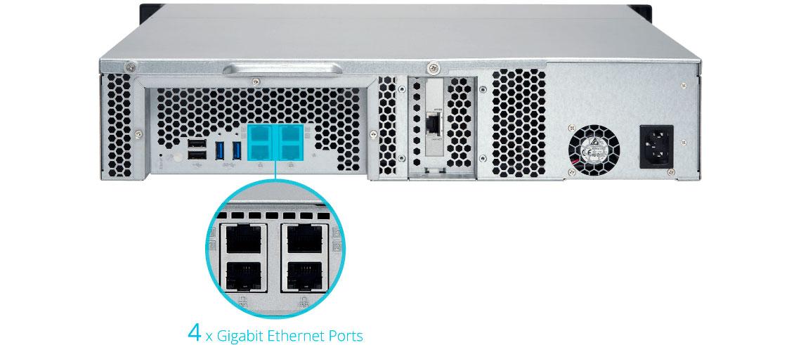 Qnap TS-863XU, servidor NAS com quatro portas LAN Gigabit