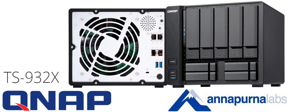 TS-932X Qnap - Server NAS com duas portas 10GbE