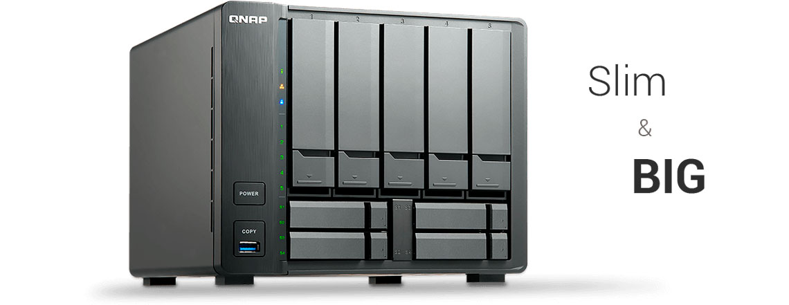 QNAP TS-932X, storage compacto de alta capacidade de armazenamento