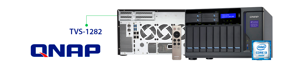 Qnap TVS-1282 com tecnologia para tiering