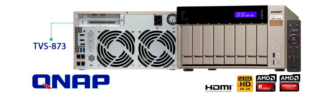 Qnap TVS-873, storage SATA até 80TB