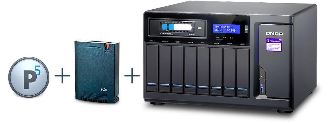 Qnap TVS-882BRT3, Arquivamento de dados, backup e clonagem com o Archiware P5