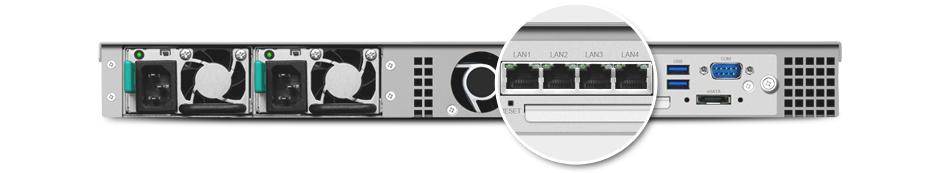 Link Aggregation via 4 portas gigabit LAN