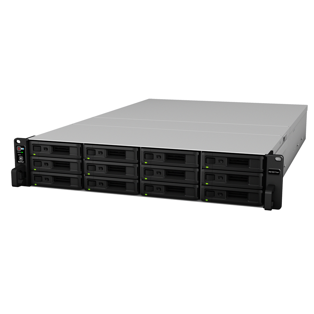 Enterprise Storage RS18017xs+, servidor em Rack da Synology