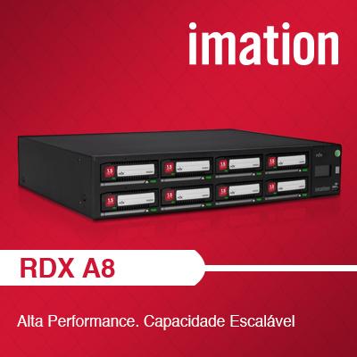RDX A8, uma autoloader de alto desempenho e escalável.
