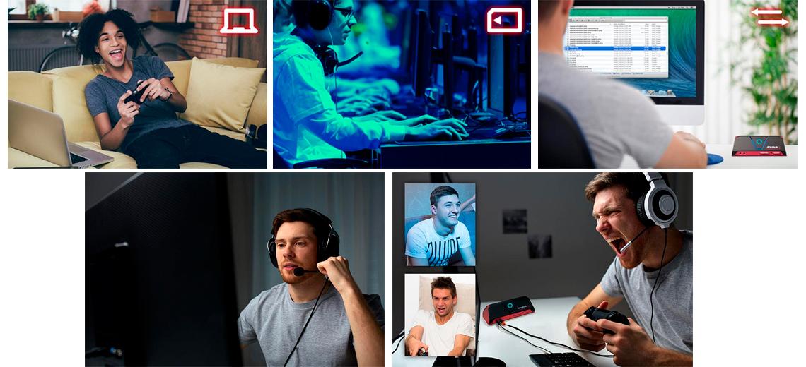 Recursos profissionais de captura de vídeo