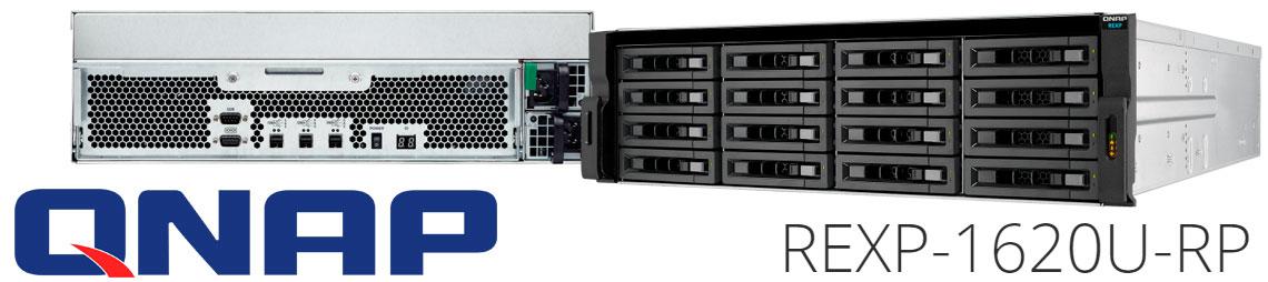 REXP-1620U-RP Qnap, JBOD SAS 16 baias hot-swappable rackmount