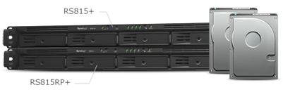 RS815RP+, escalabilidade até 8 discos e 64TB