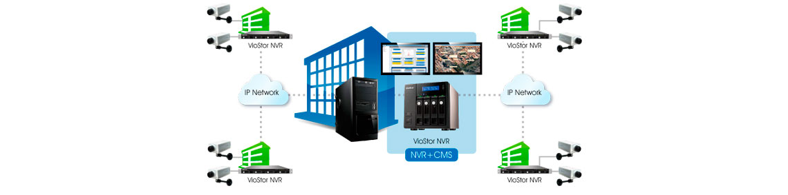 Servidor CMS - NVR 4 Channel VS-4016U-RP