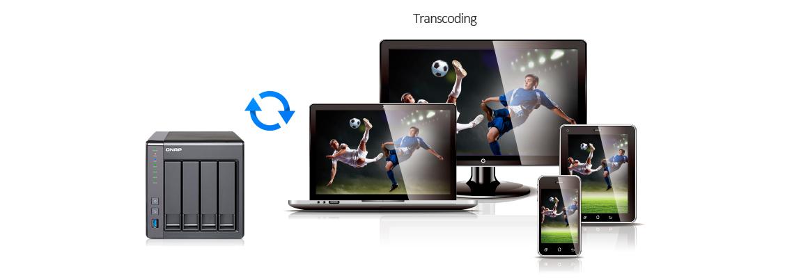 Servidor de mídia com transcodificação de vídeo Full HD