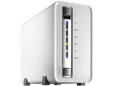 Servidor de rede doméstico para 2 hard drives Qnap