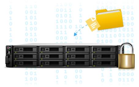 Servidor de rede Synology com criptografia de dados