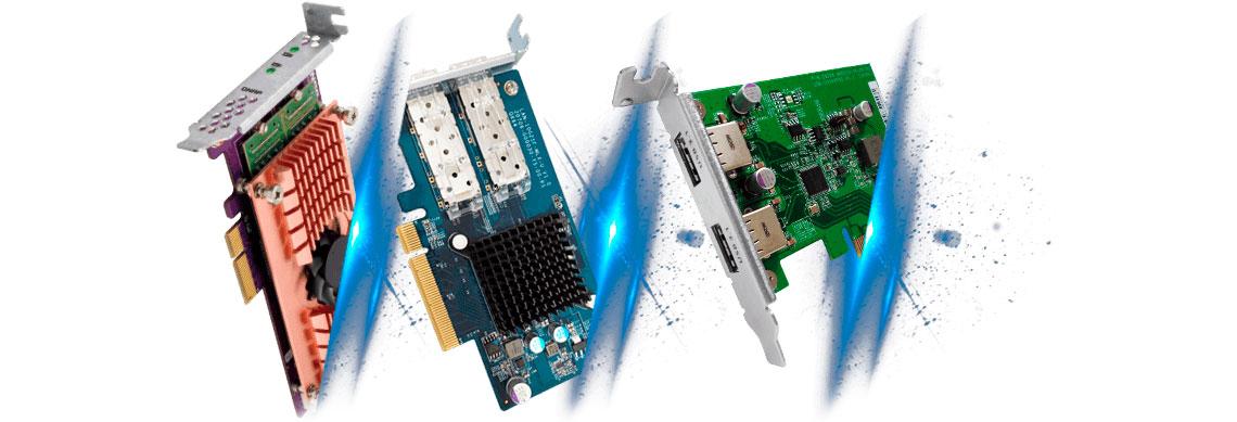 Servidor NAS 8 baias com slot para expansão de funcionalidades