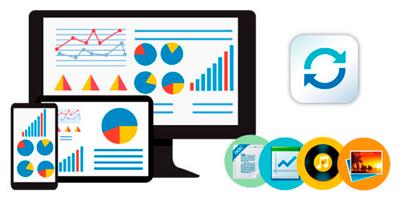 Sincronização de dados multi-plataforma