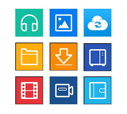 Diversos aplicativos para dispositivos móveis