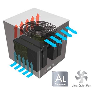 Sistema de dupla refrigeração do HD LaCie Quadra USB 3.0