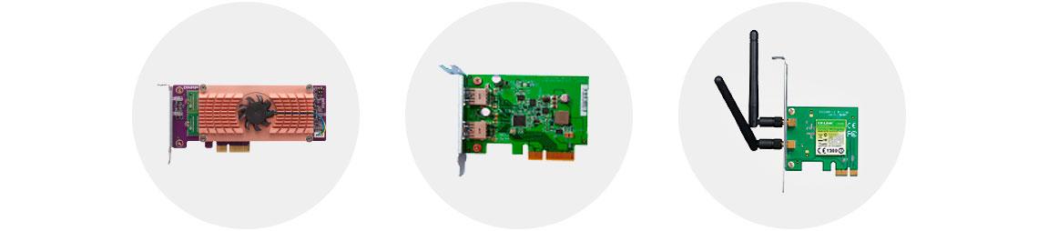 Slot PCIe para expansão de funcionalidades NAS