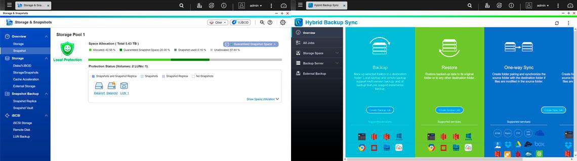 Snapshots e Hybrid backup sync