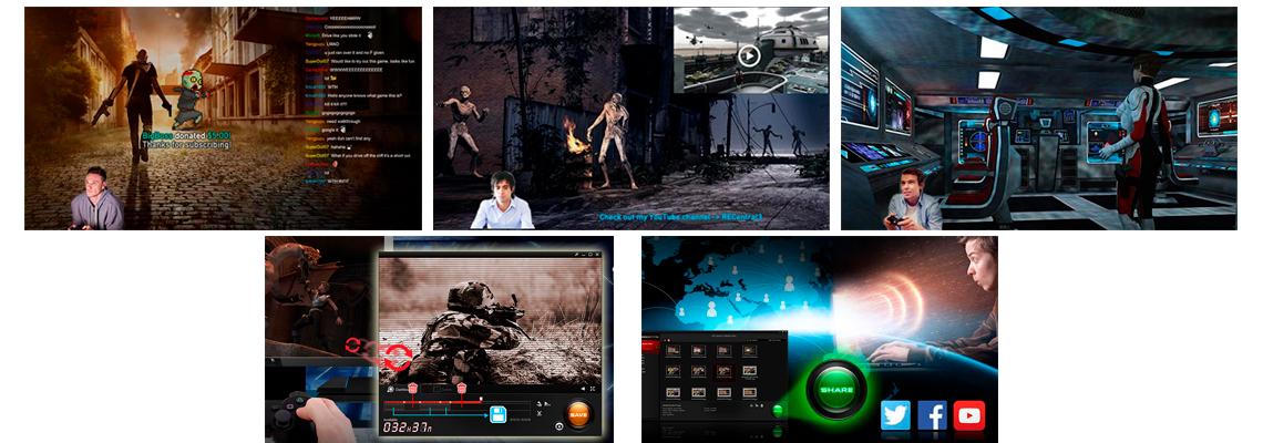 Software para transmissão e gravação de vídeos