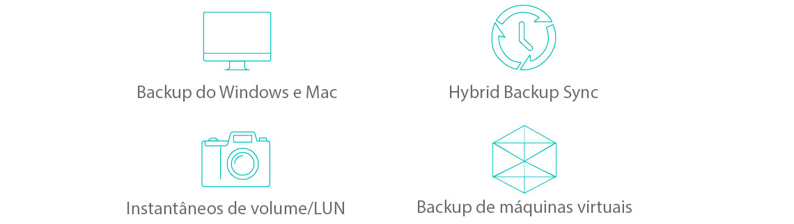 Soluções flexíveis para backup