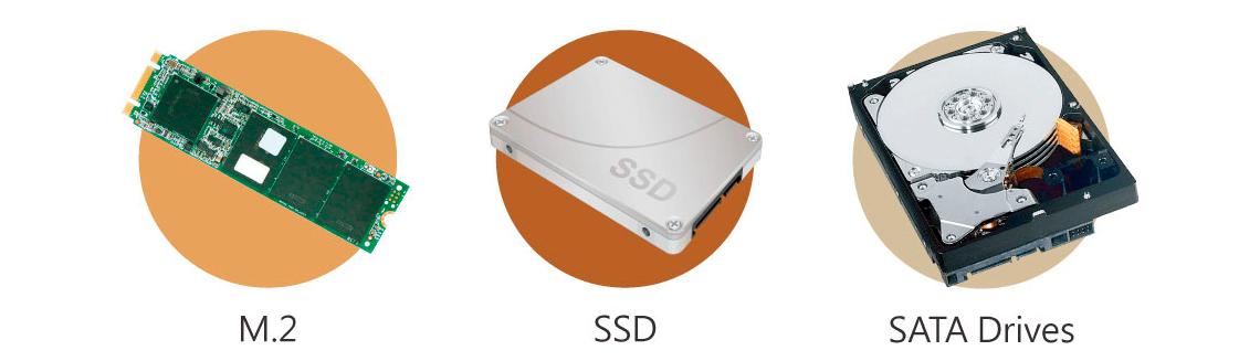 """SSD M.2 e cache SSD de 2,5"""" com otimização Qtier"""