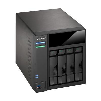Storage 4 baias SATA 40TB AS7004T Asustor, NAS para prosumers
