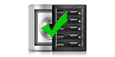 Storage 5 baias E500FR Proavio seguro e confiável
